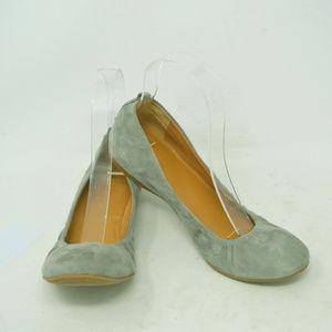 J Crew Women's Gray Micro Suede Ballet Flats